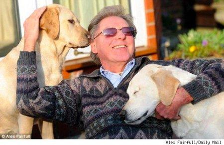 Поводырь для слепой собаки-поводыря