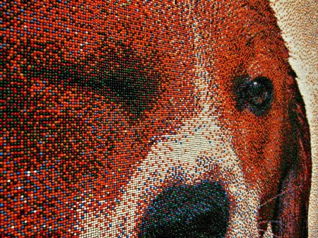 Портрет бигля из 221 тысячи сахарных шариков
