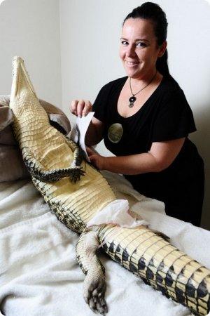 Педикюр для крокодила