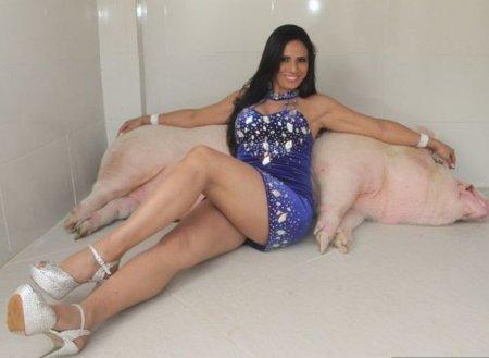 Любимый домашний питомец весом 250 кг (9 фото)