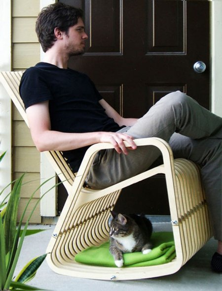 Оригинальные идеи интерьера и мебель для домашних питомцев (18 фото)