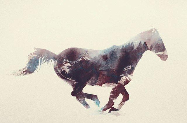 Портреты животных с двойной экспозицией от Андреаса Ли