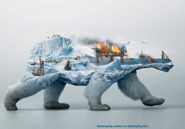«Уничтожая природу»: мощная компания в защиту животных, выполненная в двойной экспозиции